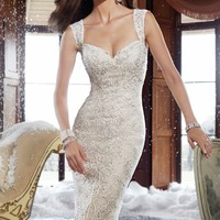 Lace Keyhole Back Gown by Sophia Tolli