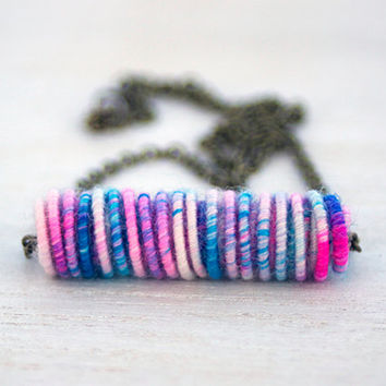 Highabove Yarn Bead Necklace