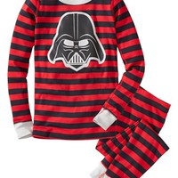 Boy's Hanna Andersson 'Darth Vader' Two Piece Fitted Organic Cotton Pajamas