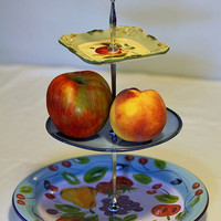 3 tier cake stand, fruit stand, jewelry stand