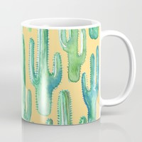cactus yellow Mug by franciscomffonseca