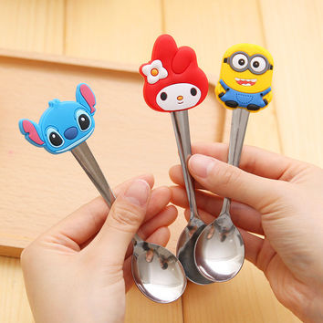 1 pc Child/small baby safety spoon. Hello Kitty, Minion, others