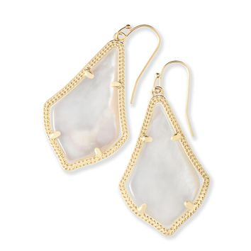 Alex Gold Drop Earrings in Mother of Pearl | Kendra Scott