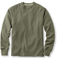 Men's Unshrinkable Waffle Shirt, Slightly Fitted Long-Sleeve Crewneck | Free Shipping at L.L.Bean