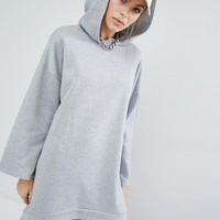 Bones Hooded Sweat Dress With Drop Back Hem at asos.com