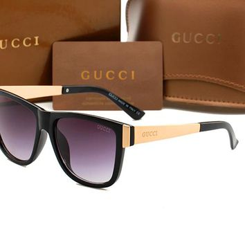 Gucci sunglass AA Classic Aviator Sunglasses, Polarized, 100% UV protection 2974244979 GG3718