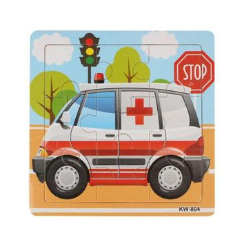 DCCKU7Q Ambulance Wooden puzzles Kids Children Jigsaw brain teaser kids gift toy Education Toy Learning Puzzles wood Toys wooden puzzle
