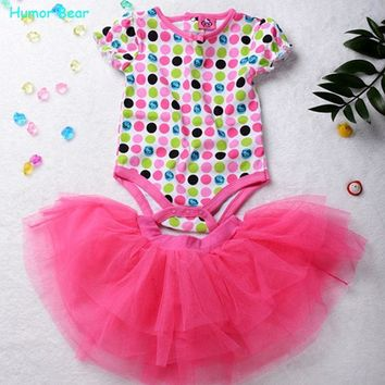 Baby girls pieces suit girls pink T shirt + tutu skirt girls