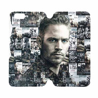 FATS FURIOUS 7 PAUL WALKER Case Wallet iPhone 4/4S 5/5S 5C 6 Plus Samsung Galaxy S4 S5 S6 Edge Note 3 4