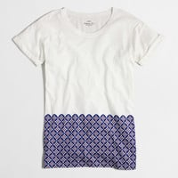 Factory tile hem collector tee in airy cotton