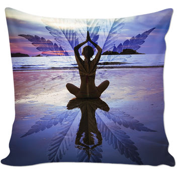 Weed Reflection Pillow
