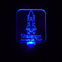 NASA Challenger Space Shuttle Nightlight, Available with different Colored LED Lights