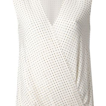 Michael Michael Kors Studded Wrap Tank Top