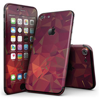 Red Geometric V2 - 4-Piece Skin Kit for the iPhone 7 or 7 Plus