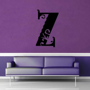 Floral Monogram - Z - Wall Decal$8.95
