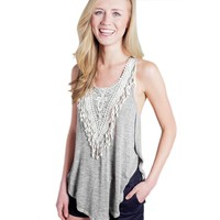 Womens Trendy Lace Sleeveless Summer Top