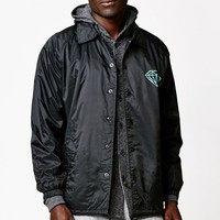 Diamond Supply Co Parisian Coach's Windbreaker Jacket - Mens Jacket - Black
