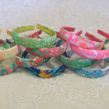 "Preppy 1"" Medium Lilly Pulitzer Headband in 12 Prints"