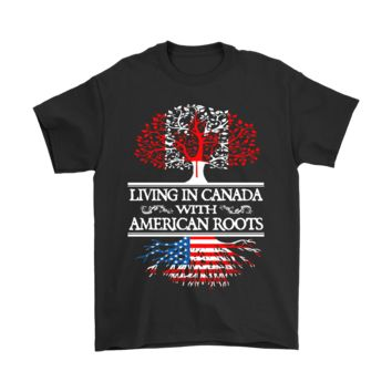 ESB8HB Living In Canada With American Roots Shirts