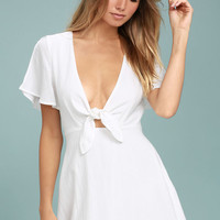 Sea Day White Skater Dress