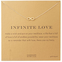 18k Gold Dipped Infinite Love Pendant Necklace with Card