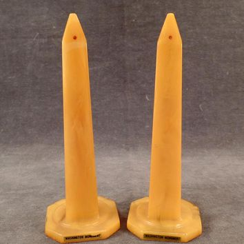 Vintage Catalin Salt and Pepper Shakers – Washington Monuments