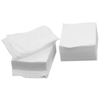 White Rectangle Facial Cotton Pad 200 Pcs Disposable Tissue Pads Makeup Remover