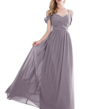 eDressit Women's Gorgeous Off The Shoulder Long Prom Dress Chiffon Bridesmaid Dress