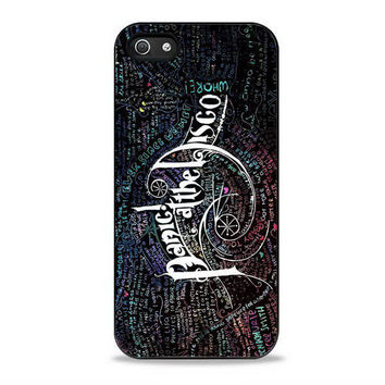 Panic At The Disco Lyric band galaxy Iphone 5s Cases