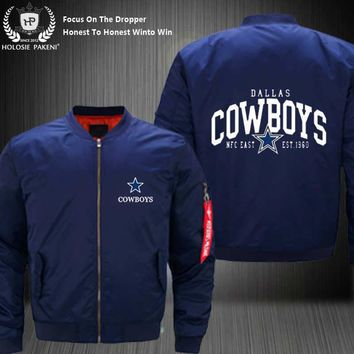Dropshipping USA Size MA-1 Jacket Football Team Dallas Cowboys Men Flight Jacket Custom Design Printed Bomber Jacket made Men
