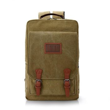 Vintage Retro Canvas Backpack Large Capacity Casual Travel Bags Men Book Bag Laptop Shoulder Bags Mochila Backpacks