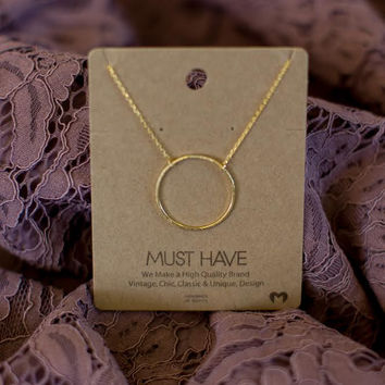 Must Have Circle Necklace