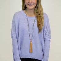Lilac Knit Pull Over Sweater