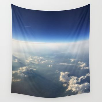Cloudy Rays Wall Tapestry by Mackenzie Lynn