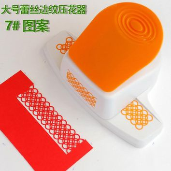 free shipping 7# embossing punches border punch craft punch scrapbook punches for paper project and greeting card