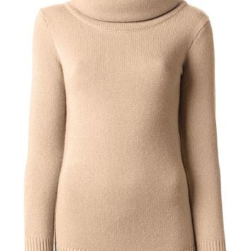 Ralph Lauren Black luxury neck poncho sweater