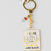 Love You To The Moon Gold Keychain