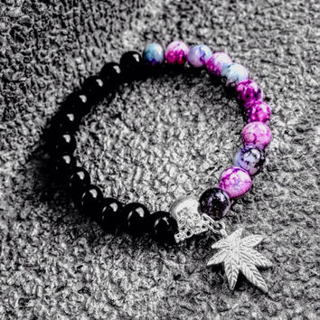 diy pink molly cannabis bracelet