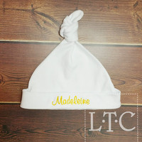 Infant hat with Monogrammed