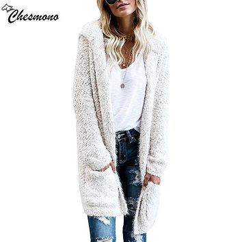 Autumn Fashion Long Cardigan Women Sweater Casual Poncho Feminino Hooded Cardigans Sweaters Female spring Knitted Sueter Mujer