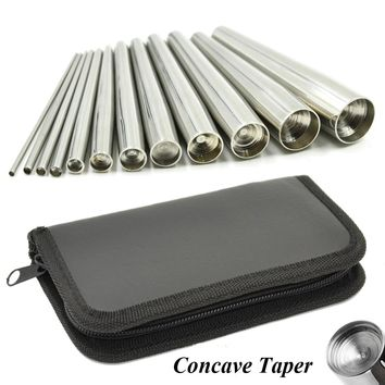 Steel Concave Back Taper Body Piercing Jewelry Tool Nose Stretcher Ring Labret Lip Stud Ear Plug Expander Gauge Kit