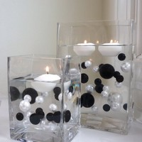 Unique Wholesale Transparent Water Gels Jumbo Packet (The Black and White Pearl Beads are Sold Separ