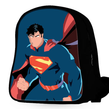 Superman Pattern Backpack