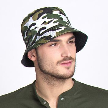 Floppy Reversible Camouflage Bucket Hat