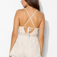 Kimchi Blue Cha Cha Crochet Romper - Urban Outfitters