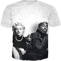 Marilyn And 2Pac T-Shirt