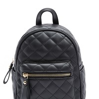 Quilted Mini Backpack