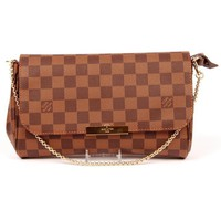 "Louis Vuitton Favorite Mm Damier Ebene L006 Canvas Cross Body Bag ""NWT"""