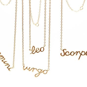 Shop Gold Zodiac Necklace on Wanelo 054e02d45