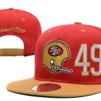 DCCKBE6 San Francisco 49ers Snapback NFL Football Caps M&N
